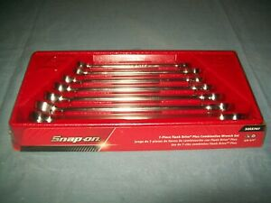 New Snap On 3 8 3 4 12 Point Box Flank Drive Plus Wrench Set Soex707 Sealed