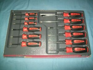 New Snap on Sgdxw120bo 12pc Soft Grip Combination Screwdriver Set Orange Sealed