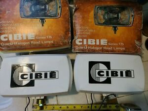 Vintage Nos Cibie 175 Iode Driving Lights With Covers Porsche Ferrari Rally Jdm