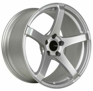 4 New 17 Enkei Kojin Wheels 17x8 5x114 3 35 Silver Paint Rims