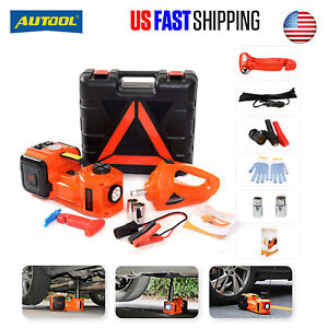 Electric Hydraulic Car Floor Jack Air Inflator Pump Led Light Impact Wrench Tool