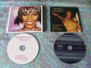 Whitney Houston quot;Live A Song For Youquot; CD LP amp; quot;I Learned From The Bestquot; Single $19.99