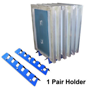 6place Screen Printing Screen Frame Holder Desktop Storage Rack Adjustable Width