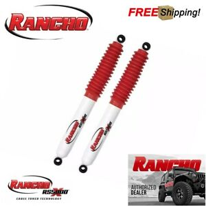 Rancho Set Of 2 Rs5000x Rear Shocks For 2004 2015 Nissan Titan W 0 Lift