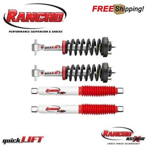 Rancho Quicklift Front Strut Rear Rs5000x Shocks For 2009 2013 Ford F150