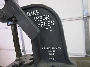 Dake Arbor Press 1 1 2 3 Ton Capacity with Heavy Duty Stand