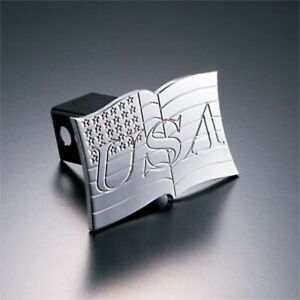 All Sales 1009 Trailer Hitch Cover 2 Flag Fits Chevy Ford Dodge Jeep And Nissan