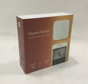 Brand New Square A sku 0113 Contactless Credit Card And Chip Reader Bundle White