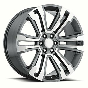 Fits 26 Denail Machine Grey All Season Tires Wheels Rims For Tahoe Silverado