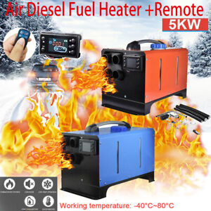 12v 5000w 5kw Lcd Monitor Air Diesel Fuel Heater Remote For Trucks Bus Boats Car