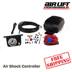 Air Lift Air Shock Controller 160psi On Board Air Compressor With Gauge 25804