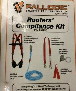 Osha Roofers Compliance Kit Safety Harness System Fall Protection Construction