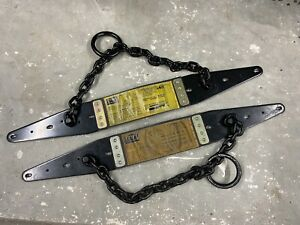 Set Of 2 Dbi Sala Roof Anchors Steel Truss Anchors Chain Construction Equipment