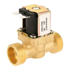 Dc12v G3 4 Normal Closed Brass Electric Solenoid Valve For Water 0 02mpa 0 8mpa
