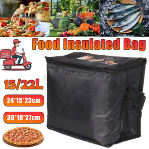 15l Insulated Lunch Bag Women Men Thermal Cooler Tote Pizza Food Container Box