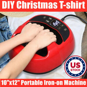 Portable Iron T shirt Heat Press Transfer Printing Machine For Diy Xmas T shirts