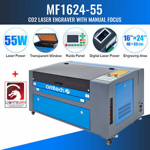 Omtech 24x16in 60w Co2 Laser Engraving Cutting Engraver Cutter With Lightburn