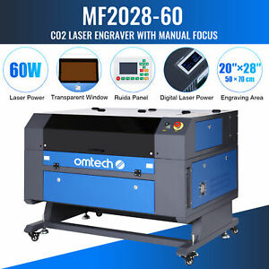Co2 Laser Engraving Cutting Carving Engraver Cutter Ruida Omtech 28 x20 60w