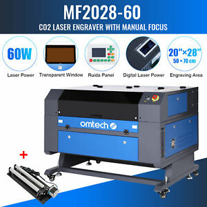 28 x20 60w Co2 Laser Engraver Marking Engraving Cutting With Ruida Rotary Axis