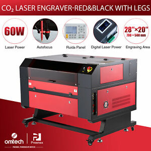 Omtech 60w 28x20in Bed Co2 Laser Engraver Cutter Autofocus Electric Lift Table