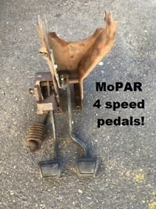 Mopar 1970 1971 Early 1972 E Body 4 Speed Manual Pedal Assembly From 72 Cuda