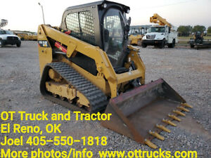 2018 Caterpillar 239d Cab A c Rubber Track Skid Steer Loader Used
