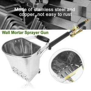 Cement Mortar Sprayerhopper 4 Jet Paint Wall Concrete Tool Stucco Gun Spray Us