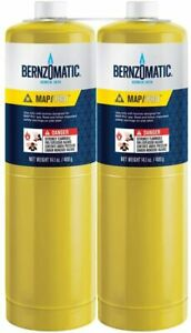 Bernzomatic Pre filled Map pro Gas Torch Style Cylinder 14 1 Oz Pack Of 2