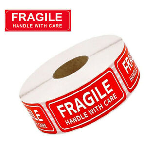 1 X 3 Fragile Handle With Care Stickers Warning Shipping Labels Packing Postage