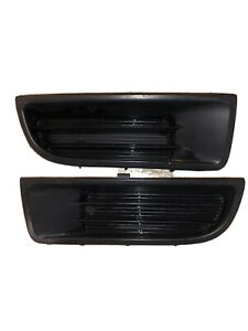 97 01 Honda Prelude Front Bumper Fog Light Insert Covers X2 Pair Left Right