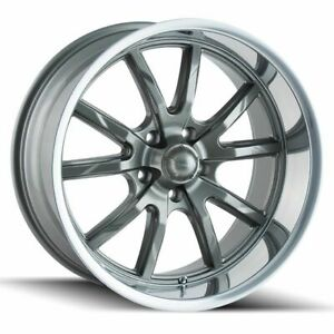 4 New 17 Ridler 650 Wheels 17x7 17x8 5x4 75 5x120 65 0 0 Gunmetal Staggered Rim