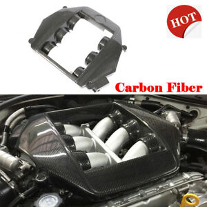 Fit For Nissan Gtr R35 09 15 Front Engine Cover Caps Hood Protecter Carbon Fiber