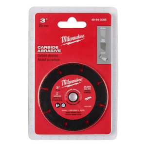 Milwaukee 3 In Metal Cut Off Wheel Discs Angle Grinder Blade Cutter Disc Tool