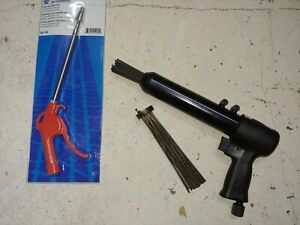Florida Pneumatic 7 Needle Scaler X Tra Needles And New Napa Blow Gun