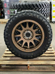 20x10 Method Nv Mr605 Bronze Wheels 33 Mt Tires 8x6 5 Chevy Silverado 2500 3500