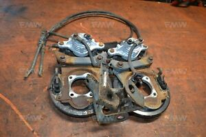 98 02 Camaro Z28 Ls1 Oe Rear Brake Calipers W E Brake Cables Backing Plates