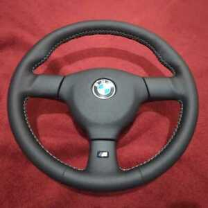 Bmw E30 Small Mtech2 Steering Wheel 370 Freshly Reupholstered Silver Stitching