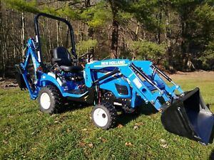 2020 New Holland Workmaster 25s Compact Tractor W Loader Backhoe