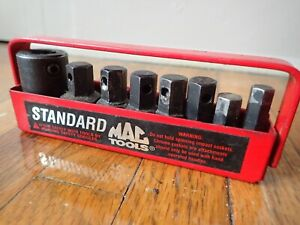 Mac Tools 8 Pc 1 2 Dr Standard Impact Hex Insert Driver Set Vp146 Case Used