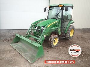 2007 John Deere 3520 Tractor W Loader Cab Heat A c Hydro 540 Pto 634 Hrs