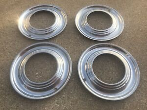 Vintage 15 Beauty Rings Hubcaps 1940 S Chevy Ford Chrysler Mopar Accessory
