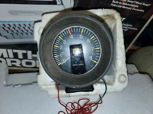 1970 s Stewart Warner 8000 Rpm Tachometer 823850 Vintage Made In Usa