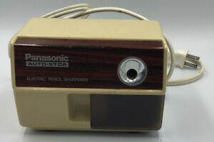 Vintage Panasonic Electric Pencil Sharpener Kp 110 Auto stop Retro Tested Works