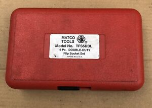 Matco Tools Tfs5dbl 6 Piece Double Duty Flip Socket Set Automotive Lug Nut Usa