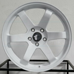 4 New 18 Avid1 Av06 Wheels 18x8 5 5x114 3 35 Matte White Rims 73 1