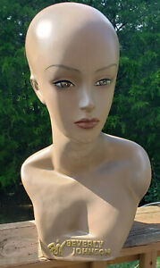 Mannequin Head Partial Bust Female African American Beverly Johnson 18 5