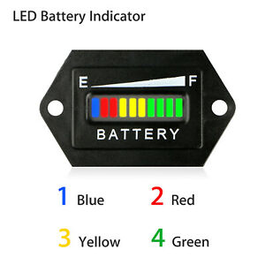 48v Volt Battery Indicator Meter Gauge Detector For Club Car Golf Cart Motor