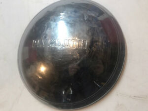Vintage 1949 Plymouth Hubcap Poverty Dog Dish Oem