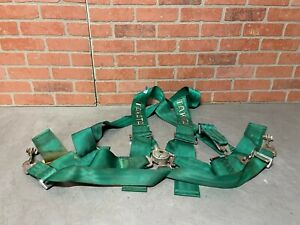 Takata Race 5 Point 3 Racing Seat Belt Harness With Camlock Green