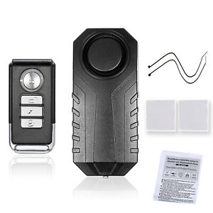 113db Wireless Motorcycle Bicycle Anti theft Alarm Vibration Remote Control Z5j5